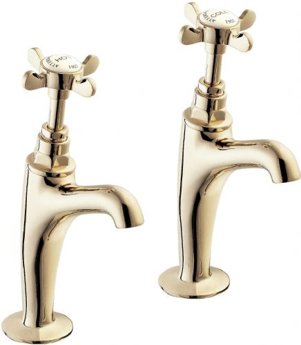 Deva CR27A/501 Coronation Traditional Chrome High Neck Kitchen Sink Taps (pair)
